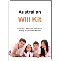 The Australian Will Kit - One person pack